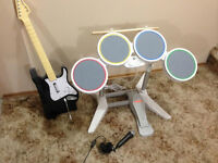 Rockband game, plus the drumset, guitar and microphone