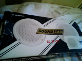 SOUND LAB 50 WATT SPEAKERS & FITTINGS