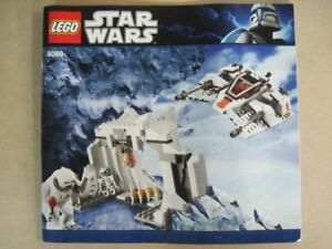Lego set 8089 Star Wars Hoth Wampa Cave 100% complet  et Boite