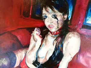"""Original Oil Paintings, Erotic, Set of 2 (16x20"""")"""