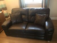 real leather debenhams couch (suite)