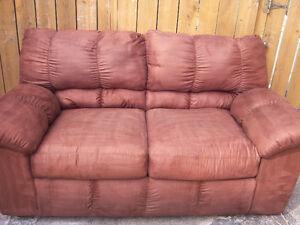 Brown Loveseat Sofa