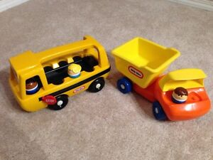 Little Tikes School Bus and Dump Truck