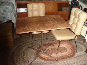 Three piece 1950s table and chairs