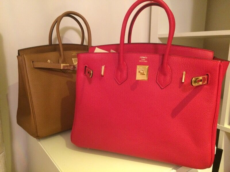 hermes knock off - New RED TAN BROWN Hermes Birkin Bag 35 with gold TOGO LEATHER | in ...