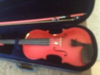 Full size beginners violin PINK never used