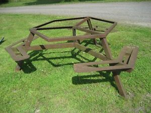 chassis table de jardin
