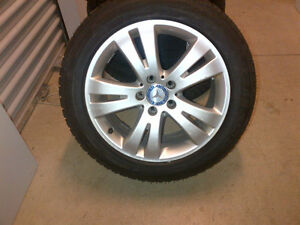 C-Class OEM mercedes Benz rims & New Bridgestone winter tires