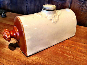 Antique Stoneware Pottery Foot or Bed Warmer/Hot Water Bottle
