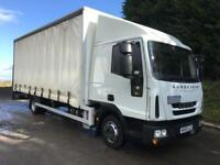 2014 Iveco Eurocargo 75E16 EEV sleeper cab, 21ft curtainsider, tail-lift