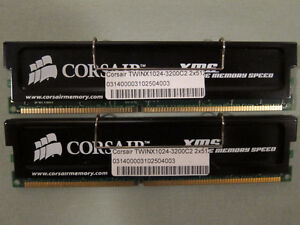 Two Matched Pairs of Corsair Twinx with Heat Spreaders (2x1GB TW Kingston Kingston Area image 5