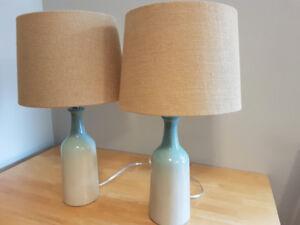 Pretty ceramic table lamps.