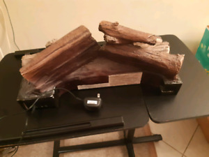 Electric fire wood