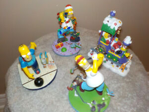 THE SIMPSONS : LOT OF 4 COLLECTIBLE FIGURINES ALL NEW IN BOX