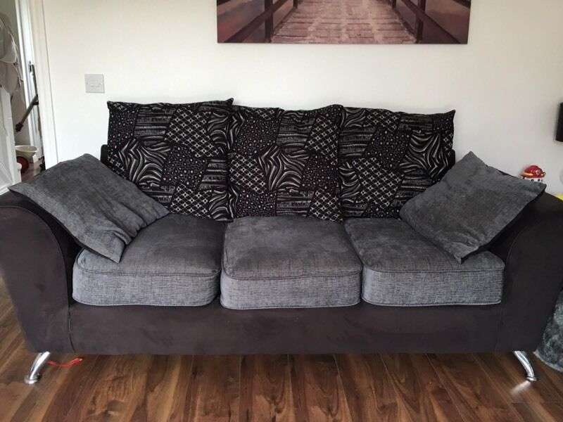 Scs 3 And 2 Seater Fabric Sofas In Airdrie North