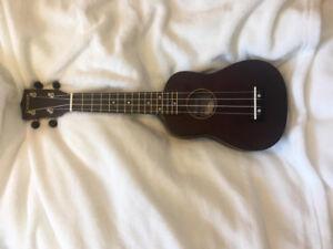 Dark Brown Denver 4-String Ukelele with Case