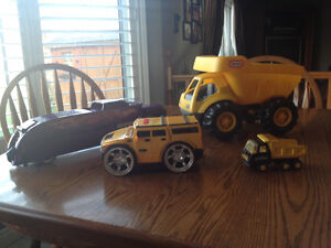 Various four wheeled toys