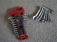 2 SETS - MASTERCRAFT PROFESSIONAL STUBBY WRENCHES
