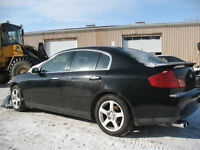 2003 INIFINITI G35 FOR PARTS AT PIC N SAVE WOODSTOCK!!!!!