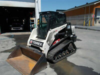 "2013 Skid Steer with 60"" bucket and 20 ton Excavator for rent"
