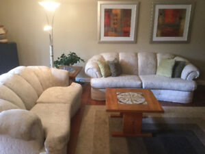 Neutral Couch and Loveseat