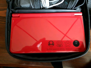 Nintendo DS with carrying case and 11 DS games