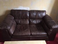 FREE!! 2 x two seater brown leather sofas
