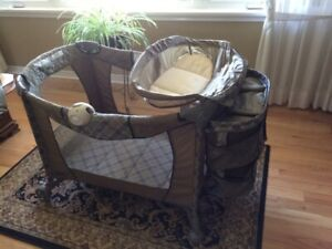 Play Pen has change table and storage compartment in good condit