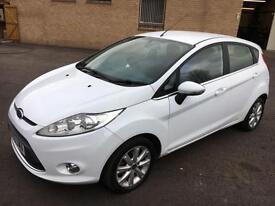 5909 Ford Fiesta 1.6TDCi Zetec White 5 Door 63907mls £30 Road Tax