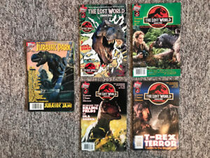 Jurassic Park comic books from the 90's ($5 for all)