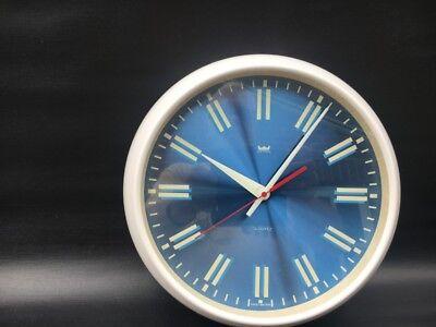RETRO SMITHS ASTRAL WALL CLOCK c1970 BLUE FACE VGC