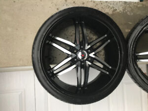 4 mags rims jantes 22 po 6 bolts universelle