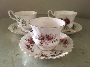 Royal Albert Bone China England Tea Cups x3
