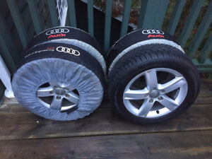 Audi Factory Wheels and Winter Tires For Sale - Almost like new!