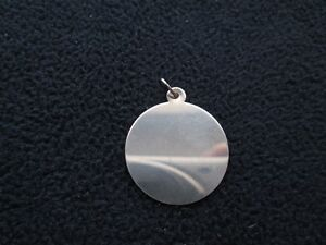 Sterling Silver Plain Round Pendant