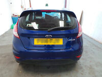 2014 FORD FIESTA REAR END BUMPER TAILGATE BOOT LEADS SPOILER LIGHT CLUSTER AND BOMPER REINFORCER