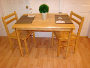 Kitchen table set for two like new a must see.