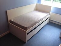 Ikea Flaxa bed and underbed in very good condition. With or without both mattresses.