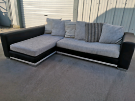 Dfs fabric Corner sofa couch suite 🚚🚚