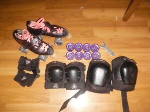Roller Derby Skates, Pads, Wheels