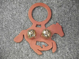 RUNNING HORSE / MUSTANG Leather Doorknob Hanger With Bells Kitchener / Waterloo Kitchener Area image 1