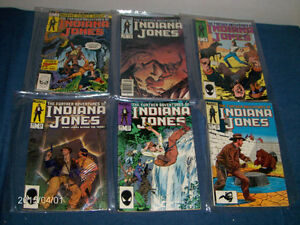 6 ISSUES-FURTHER ADVENTURES OF INDIANA JONES-1984-COMIC BOOKS