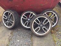 "18"" 4x100 BMW Mini JCW John Cooper Works GP1 Style Alloy Wheels With Tyres"""
