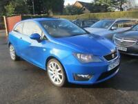 2012 62 Seat Ibiza 2.0 TDi 140 CR FR 3dr Speed Blue