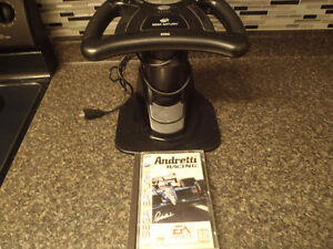 Saturn Steering wheel with game/2 PS2 singstar mics with games