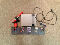 Nes with 1 Controller, Zapper, and 5 Games