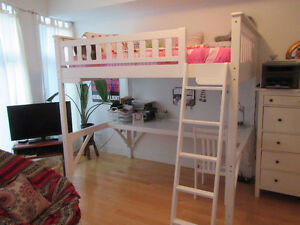 Loft Bunk Bed with Desk and Chair