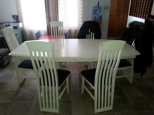 Ensemble cuisine table, 2 panneaux, 6 chaises