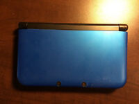 3DS XL in Blue with games.