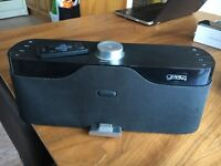 Gear4 HouseParty Rise Speaker Dock Built In Apple Dock Clock FM Radio Black